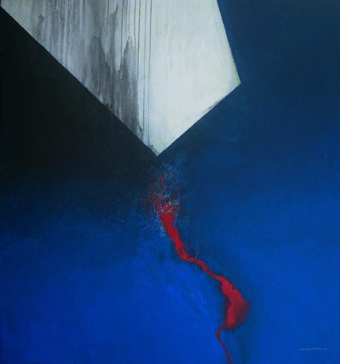 Mencari Cahaya,2010,acrylik diatas kanvas,145x135cm